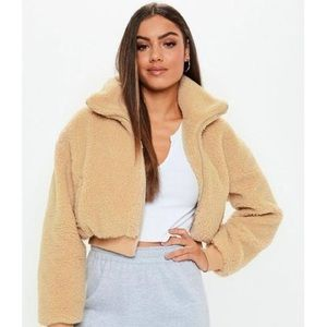 Teddy Sherpa cropped jacket